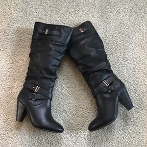 Rampage Tall Heeled Boots
